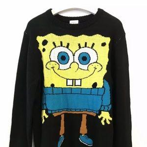 Spongebob Squarepants Sweater Size Small Black NWT